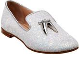 Giuseppe Zanotti Spacey Glitter Leather Loafer