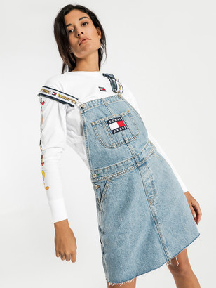 Tommy Hilfiger Tommy Jeans X Looney Tunes Overall Dress in Light Blue Denim