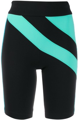 NO KA 'OI Sweetie On colour-block cycling shorts