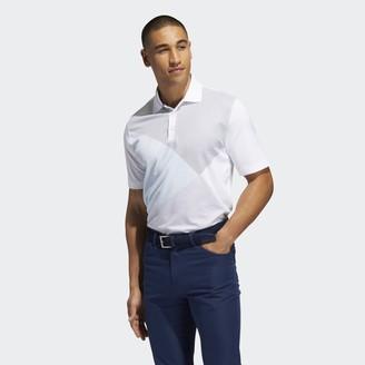 adidas Adipure Curved Print Polo Shirt