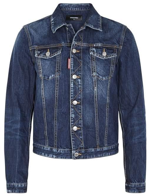 DSQUARED2 Blue Faded Denim Jacket