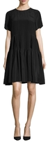 Vera Wang Silk Raglan Pleated A-Line Dress
