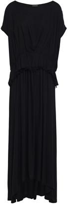 Ann Demeulemeester Layered Pleated Crepe Midi Dress