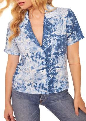 Reformation Holiday Tie Dye Linen Shirt