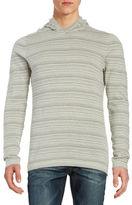 John Varvatos Hooded Striped Pullover