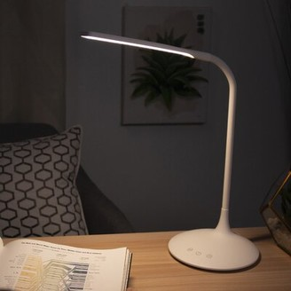 "Orren Ellis Taja 13"" White Desk Lamp"