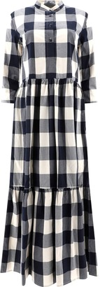 Woolrich Checked Tiered Dress