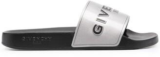 Givenchy Metallic-Effect Logo-Detail Slides