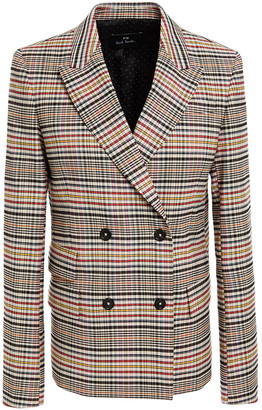 Paul Smith Double-breasted Checked Twill Blazer