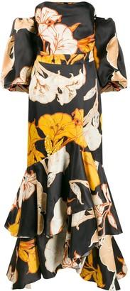 Johanna Ortiz floral off-shoulder mini dress