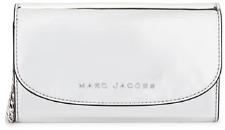 Marc Jacobs Metallic Flap Wallet-On-Chain