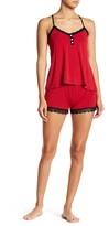 PJ Salvage Cami Short Lace Trim Pajama Set