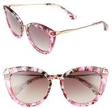 Sonix Women's Melrose 51Mm Cat Eye Sunglasses - Petal Pink/ Brown Fade