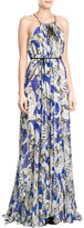 Roberto Cavalli Embellished Silk Maxi Dress