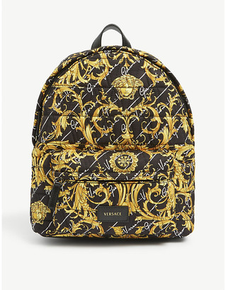 Versace Kids large baroque backpack