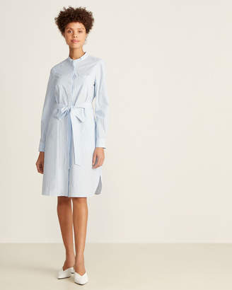French Connection Blue & White Leondra Striped Shirtdress