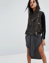 AllSaints Jensen Biker Jacket in Coloublock Leather