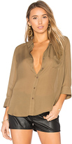 L'Agence Ryan Blouse in Brown
