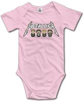 Loser112 Baby Boys Girls Metallica James Hetfield Onesies Newborn Clothes