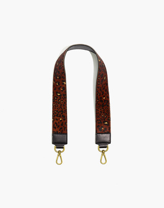 Madewell The Shoulder Bag Strap: Painted Leopard Calf Hair Edition