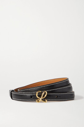 Loewe L Buckle Leather Belt - Black