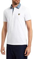 Lyle & Scott Woven Collar Cotton Polo Shirt, White