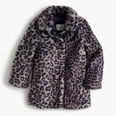 J.Crew Girls' leopard faux-fur coat