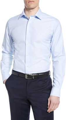 David Donahue Luxury Non-Iron Trim Fit Dress Shirt