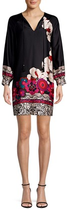 Trina Turk Alabaster Floral Print Shift Dress