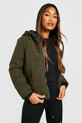 boohoo Hooded Padded Jacket