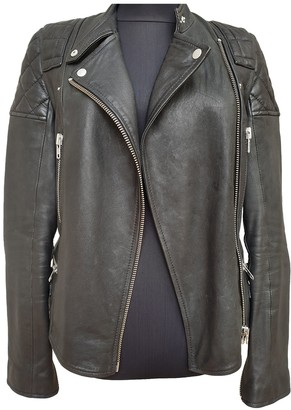 Jack Wills Black Leather Leather Jacket for Women