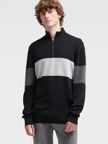 DKNY Color Block Quarter-zip Sweater