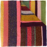 The Elder Statesman Rainbow knitted stripe scarf