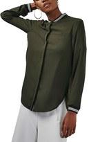 Topshop Women's Bomber Shirt