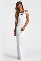 Donna Mizani White Cold Shoulder Maxi Dress