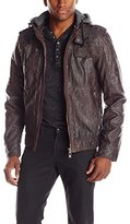 ProjekRaw Projek Raw Men's Zip Front Jacket with Removable Hood