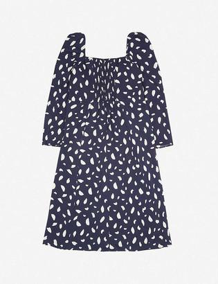 Reformation Sigmund abstract-print crepe midi dress