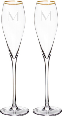 Cathy's Concepts Personalized Gold Champagne Flutes & Cake Serving Set