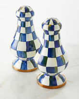 Mackenzie Childs Royal Check Large Salt and Pepper Shakers