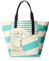 Tommy Hilfiger Sporty Rugby Canvas Travel Tote