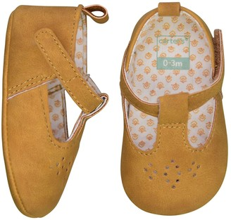 Carter's Baby Girl Mary Jane Perforated Crib Shoes