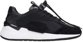 Buscemi Run 2 Sneakers In Black Leather And Fabric