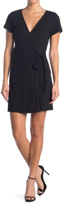 Sanctuary Short Sleeve Knit Wrap Dress (Petite)
