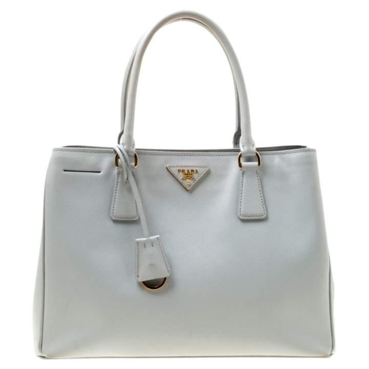 a1e066ba958908 Prada Gray Leather Handbags - ShopStyle