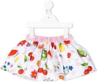 MonnaLisa Fruit Print Full Skirt