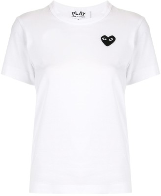 Comme des Garcons embroidered heart logo T-shirt