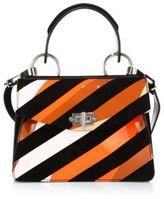 Proenza Schouler Small Hava Patent Leather & Suede Top-Handle Satchel