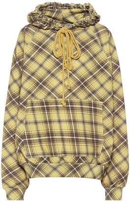 Dries Van Noten Checked cotton hoodie