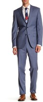 Simon Spurr Blue Glenplaid Two Button Notch Lapel Regular Fit Suit