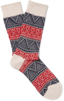 Anonymous Ism - Jacquard-knit Socks - Red